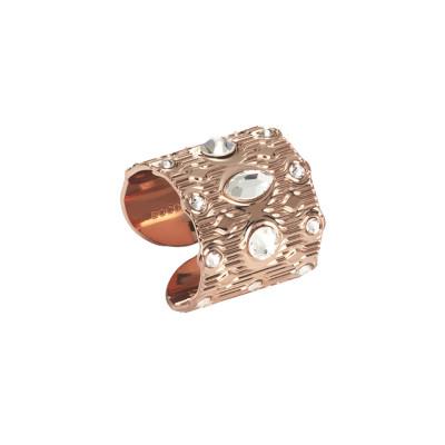 Anello a fascia con Swarovski crystal