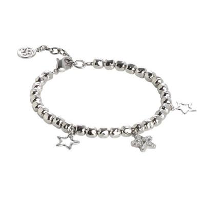 Bracciale beads con charms a stella e zirconi
