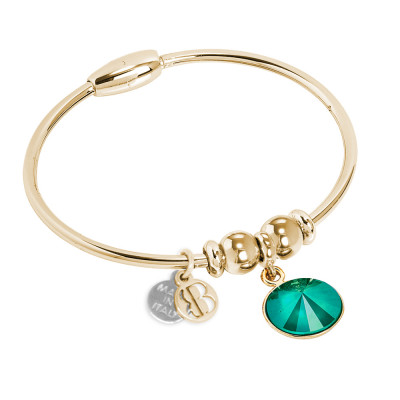 Bracciale con cristallo Swarovsky crystal royal green
