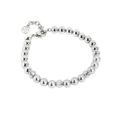 Bracciale con perle Swarovski light grey