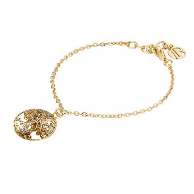 Bracciale dorato con albero della vita in glitter silver