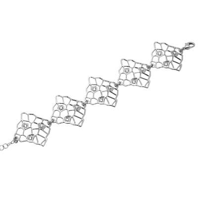 Bracciale con moduli asimmetrici e Swarovski