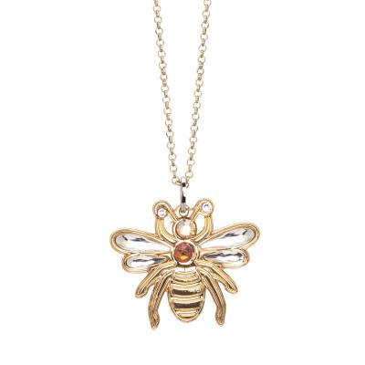 Collana con ape pendente e cristalli Swarovski