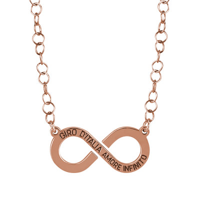 """Collana rosata con logo """"amore infinito"""" del Giro d'Italia"""