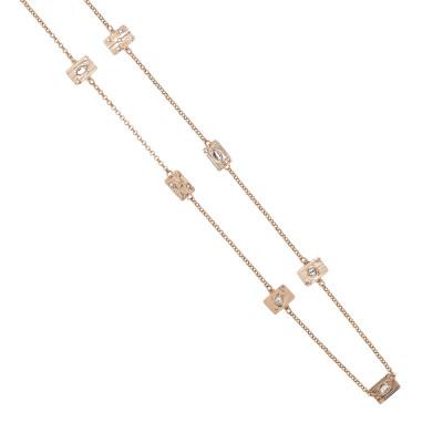 Collana lunga con elementi modulari e Swarovski crystal