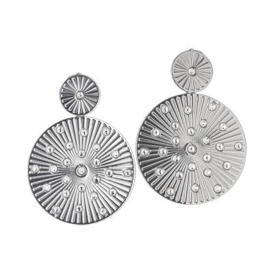 Orecchini pendenti con decoro circolare radiale e Swarovski