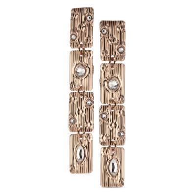 Orecchini modulari con Swarovski crystal