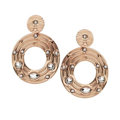 Orecchini con pendente circolare e Swarovski crystal