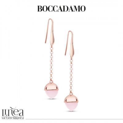 Orecchini monachella con cristallo color quarzo rosa