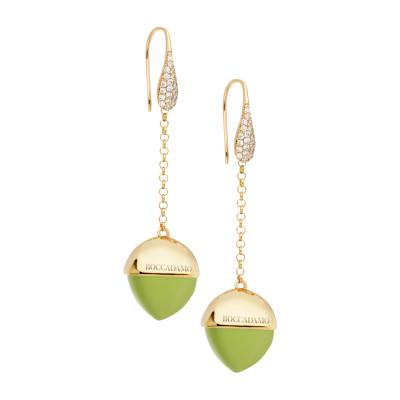 Orecchini monachella con zirconi e cristallo color olivina