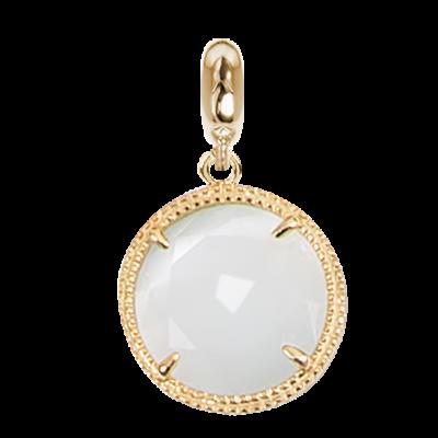 Charm in cristallo sfaccettato bianco