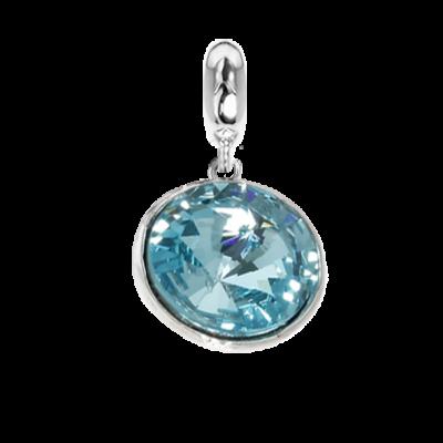 Charm con cristallo Swarovski light torquoise