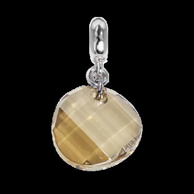 Charm con cristallo Swarovski irregolare golden shadow
