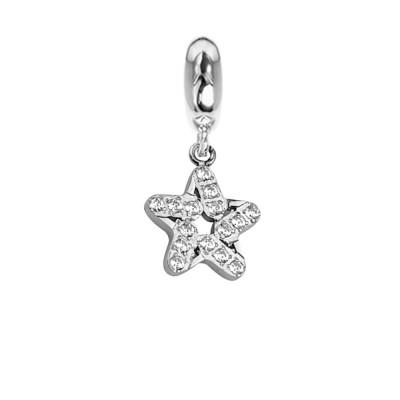 Charm a forma di stella con zirconi