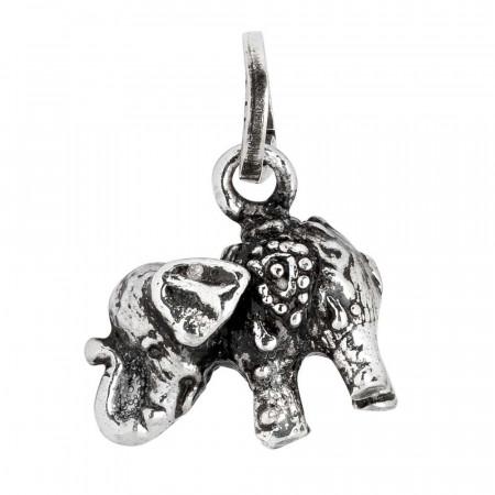 Charm portafortuna con elefantino