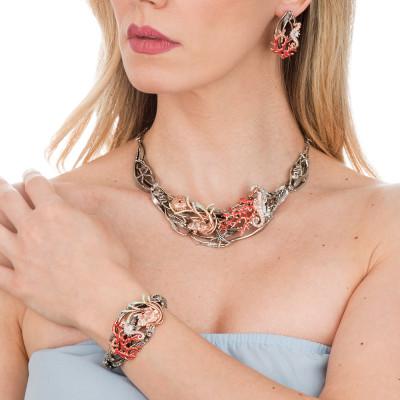 Collana Marina con decoro marino placcato oro rosa