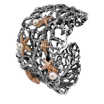 Bracciale Marina a fascia con perle naturali