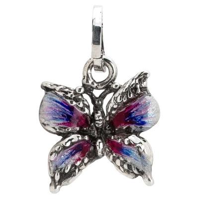 Charm con farfalla dipinta a mano nelle sfumature del viola