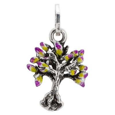 Charm con albero della vita dipinto nei colori primaverili