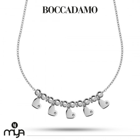 Necklace with hearts and zircons
