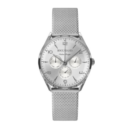 Clock multifunction vintage with silver dial