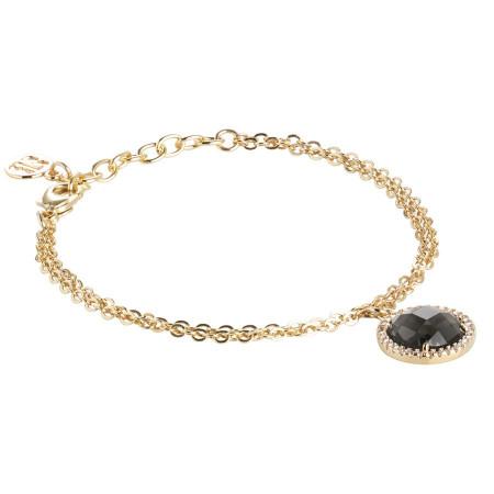 Bracelet with crystal smoky quartz and zircons