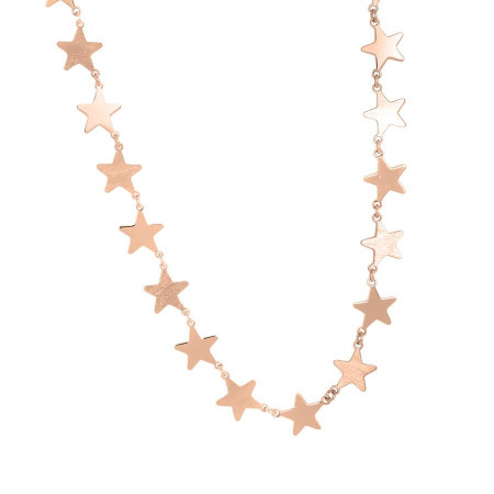 Pink necklace with stars