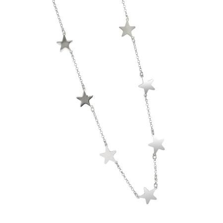 Collana con stelle lucide passanti
