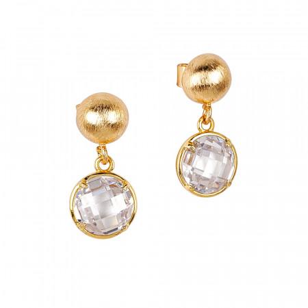 Crystal crystals earrings