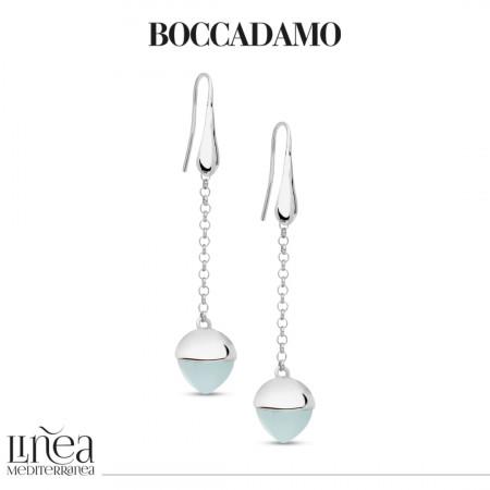Hook earrings with aquamarine crystal