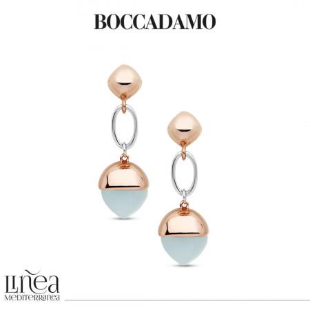Earrings with large aquamarine crystal pendant