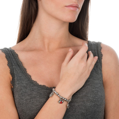 Modular bracelet with tenderness theme