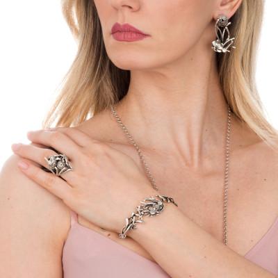 Semi-rigid Marina bracelet with anemone