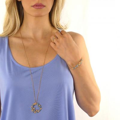 Bracelet with central light blue starfish