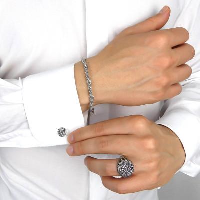 Round peened cufflinks