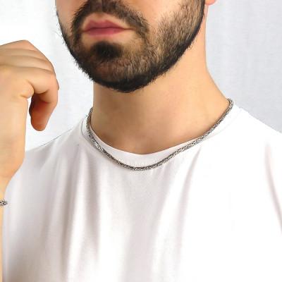 Byzantine square link necklace