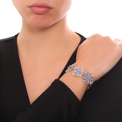 Modular bracelet and blue Swarovski