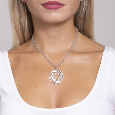 Necklace with a pendant from the decoration a vortex and zircons