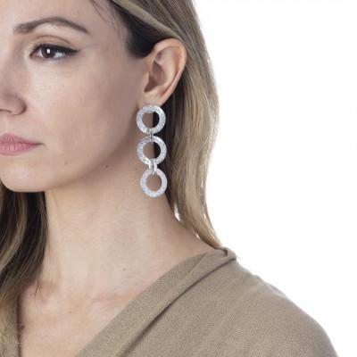 Diamond effect stud earrings
