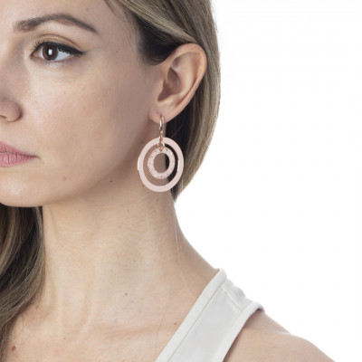 Concentric earrings rose gold plated