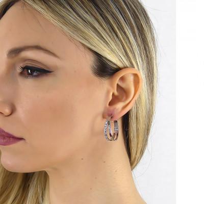 Creole earrings with Swarovski