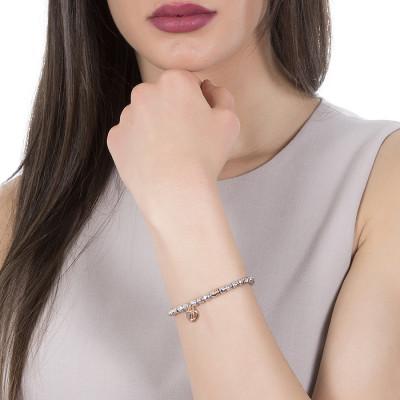 Bracelet beads with padlock rosato
