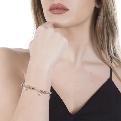 Bracelet beads with stars rosate of zircons