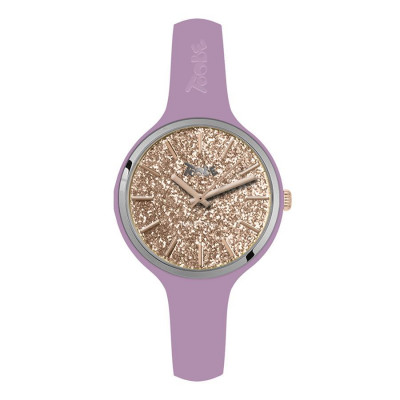 Watch lady in silicone anallergic lavender with quadrant in gloss rosato