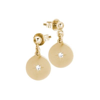 Rosé earrings with zircon