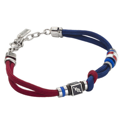 Bracelet with bicolor marine cord and knot