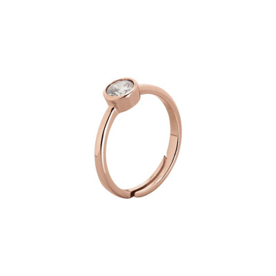Plated ring pink gold with zircon diamond cut