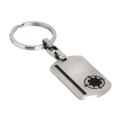 Keychain with carbon fiber and rudder