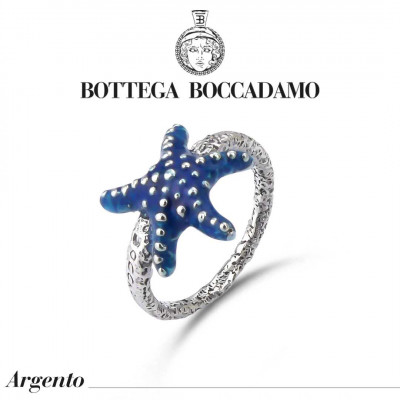 Blue starfish ring