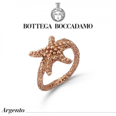 Rose gold plated ring with starfish